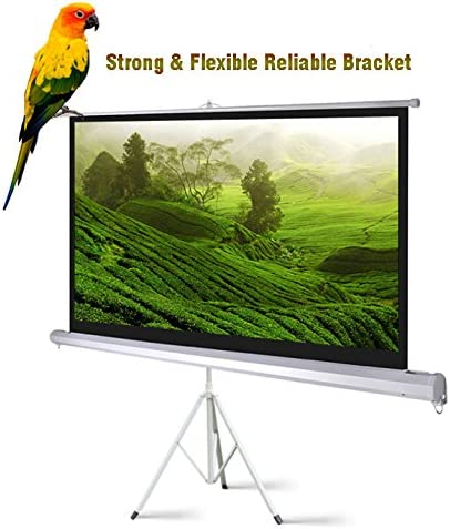 """16:9 Projector Screen Home Theater Backdrop Projection Film 72/"""" 84/"""" 100/"""" /& Stand"""