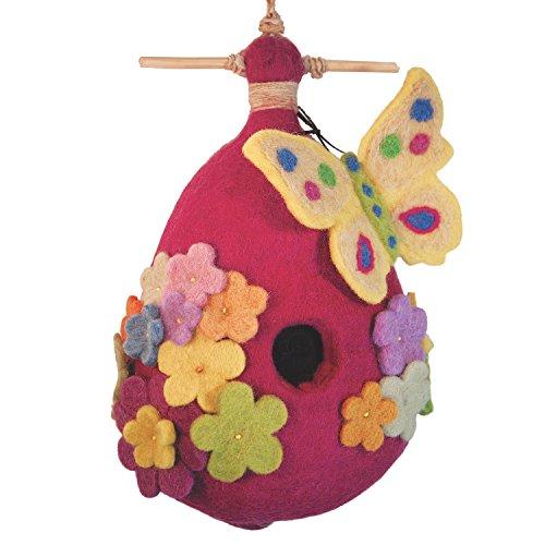 Buy wild woolies felt birdhouse butterfly