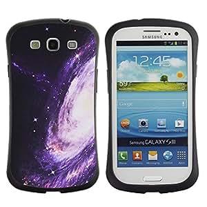 "Pulsar iFace Series Tpu silicona Carcasa Funda Case para SAMSUNG Galaxy S3 III / i9300 / i747 , Camino púrpura Espacio Universo Cosmos"""