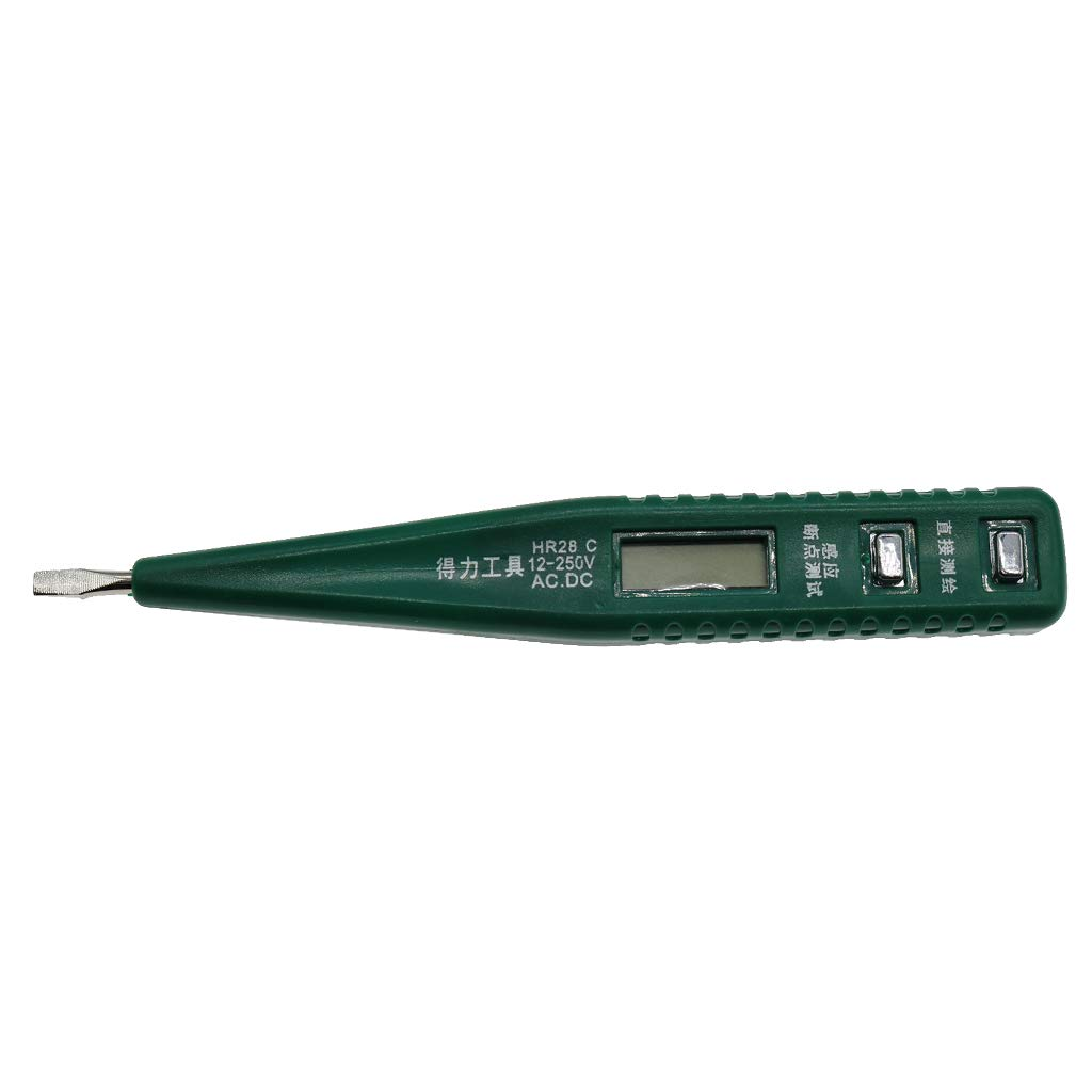 B Blesiya 12-250V AC/DC Non-Contact Voltage Tester Electrical Voltage Detector Pen Digital Test Pen