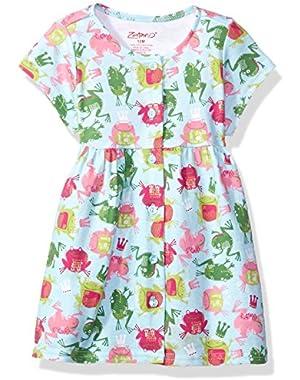 Baby Girls' Classic Short Sleeve Button Dress