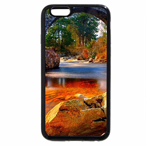 iPhone 6S / iPhone 6 Case (Black) old bridge over red river