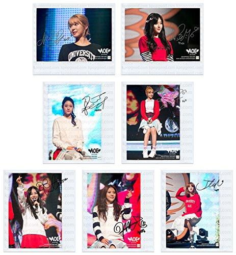 AOA fancafe heart attack polaroid photo set #2
