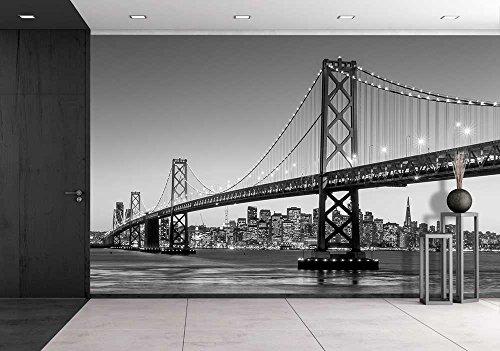 San Francisco Skyline and Bay Bridge at Sunset California Usa