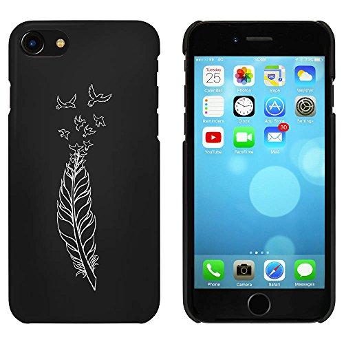 Noir 'Plume d'Oiseau' étui / housse pour iPhone 7 (MC00075841)