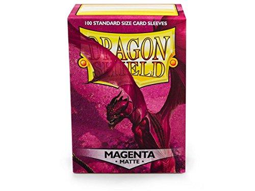 Case Shield Protector Magenta (10 Pack Dragon Shield Matte Magenta Standard Size 100 ct Card Sleeves Display Case)