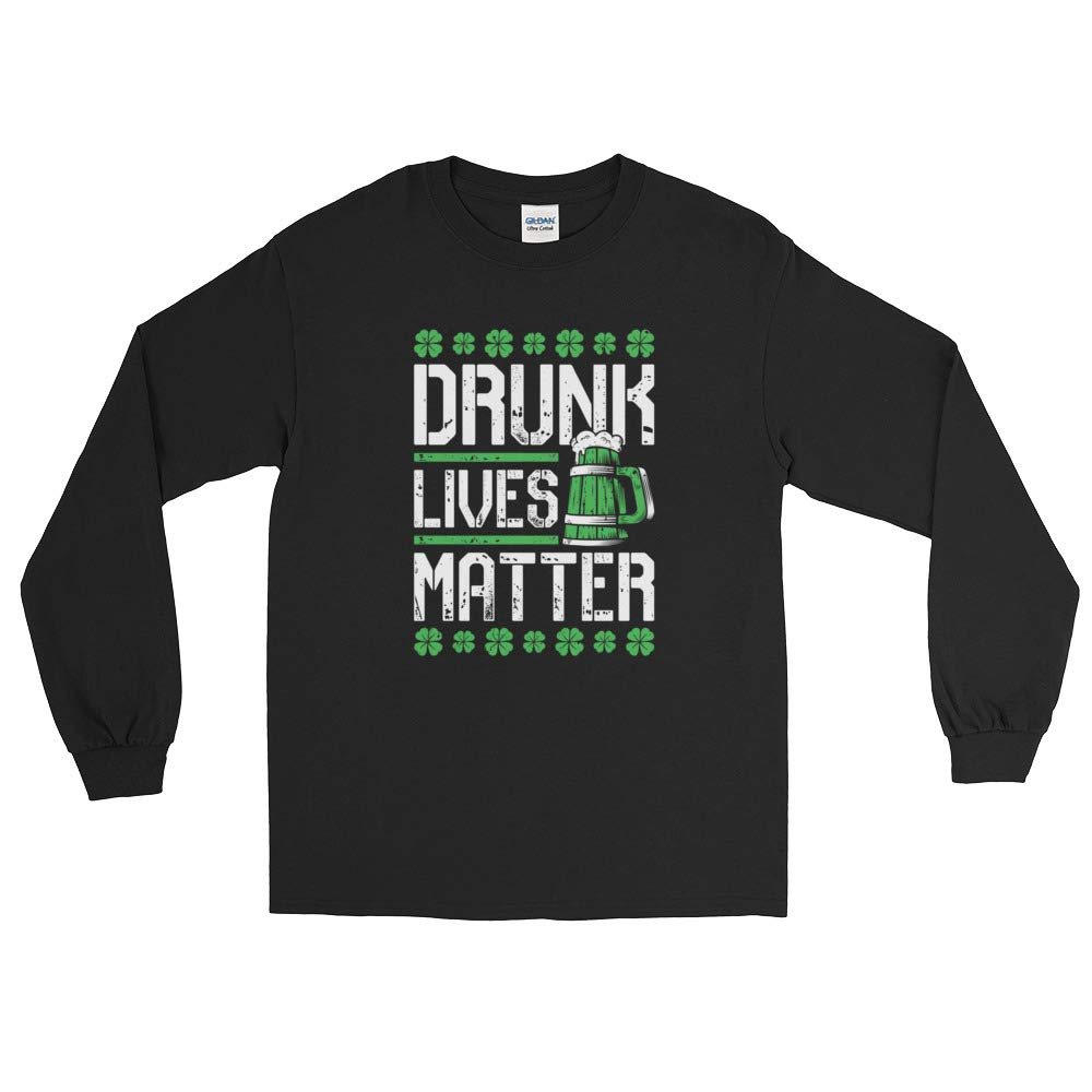 Fabby Gifts St Patricks Day Shirt Long Sleeve for Men