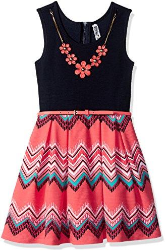 Zig Zag Print Dress - 6