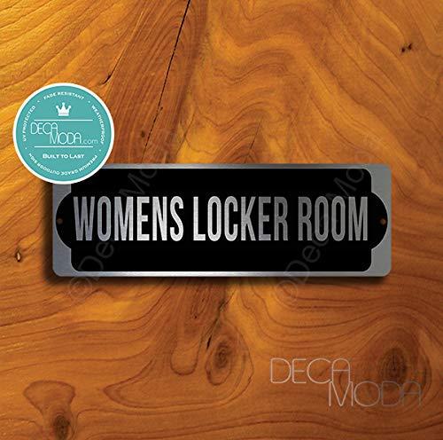 Deca Moda Womens Locker Room Sign, Signs for Business, Door Signs, Womens Locker Room Signs, Womens Locker Room, Silver Finish, 9 x 3 inches
