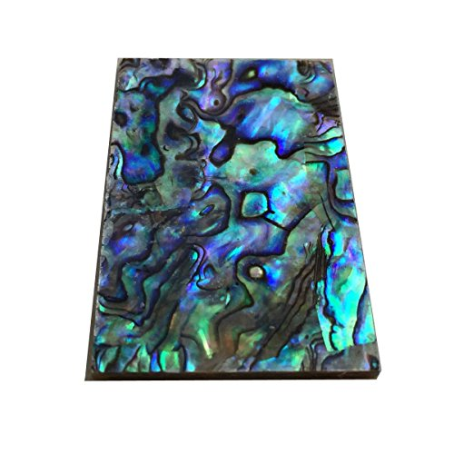 Thickness 1.5mm(0.059') 100% Solid Nature Paua Abalone Knife Handle Flat Shell Blank Scales Inlay Material Slab-1 (33 x 58 x 1.5 (mm))