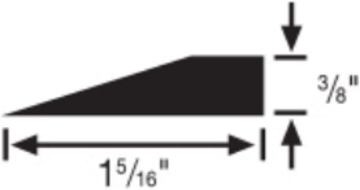 Black 3//8 H X 9 L X 1.31 W Roppe Reducer Profile #26