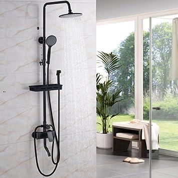 Luxurious Shower Schwarze Wand Montiert 8 Regendusche Wasserhahn