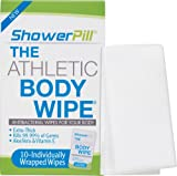 Beauty : ShowerPill Athletic Body Wipes for Cleansing and Deodorizing, 10 Count