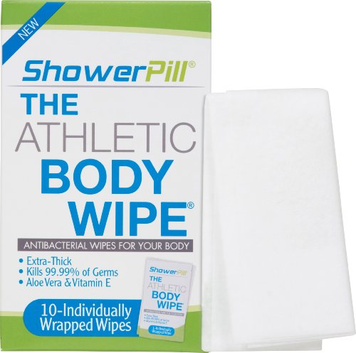 ShowerPill Athletic Body Wipes, 10 (Dude Shower)
