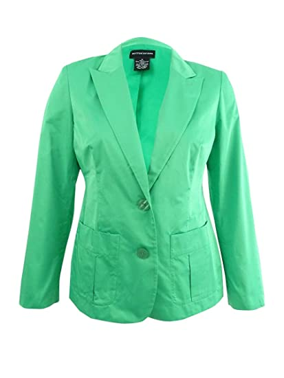 4325e7c40 Sutton Studio Womens 2 Button Decorative Stitch Blazer Jacket at ...