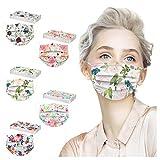 AIHOU Disposable Masks for Women, Floral Disposable