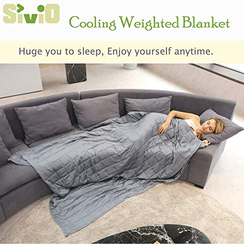 Sivio Cooling Weighted Blanket 20 lbs for Adults Between 190-240 lbs (60\