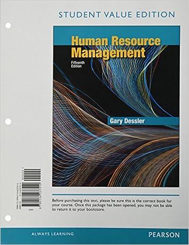 Human resource management student value edition 15th edition human resource management student value edition 15th edition 15th edition fandeluxe Gallery