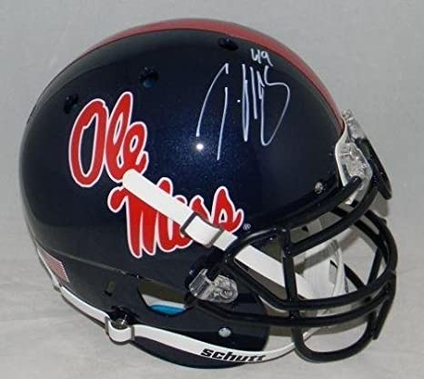 Mississippi Ole Miss Rebels NCAA Helmet Shadowbox w// Patrick Willis card