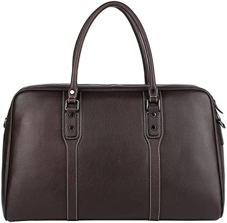 Banuce Vintage Full Grain Leather Travel Bag for Men 1-3 Days Duffel Business Shoulder Messenger Tote Handbag