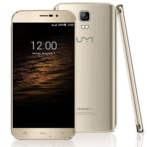 UMI Rom-X 3G-Smartphone Handy Ohne Vertrag 5.5 Zoll Android 5.1 Dual SIM Quad Core WIFI 1280 * 720P HD 1G+8G Bluetooth GPS