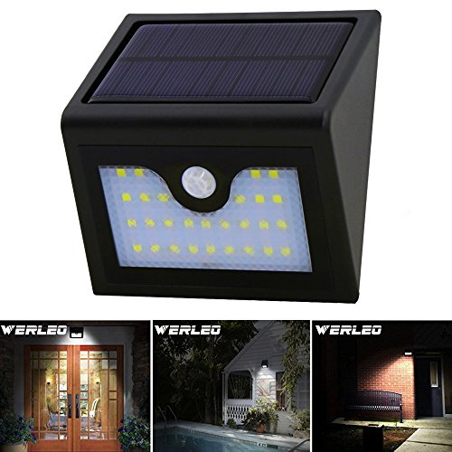 Solar Light,Werleo 28 LED Solar Powered Wireless Waterproof Security Light Outdoor Solar Motion Sensor Light Spotlight for Garden Patio Deck Yard Path Fence Driveway Outside Bright Wall Night Light Review