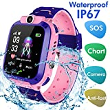 Bohongde Kids Smartwatch Waterproof with SOS Camera Alarm Clock 1.44 HD Screen Games for 3-12 Year Old Boys Girls Great Gift
