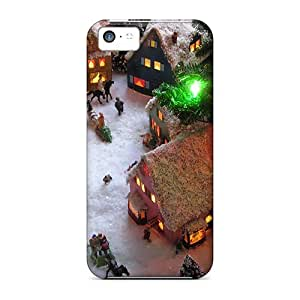 linJUN FENGSpecial ChrisHuisman Skin Cases Covers For iphone 4/4s, Popular Christmas Village View4 End Phone Cases