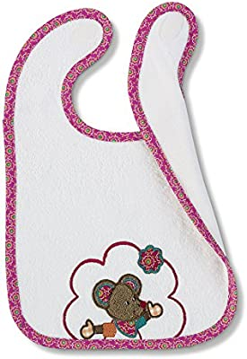 Sterntaler 7051401_500 babero Algodón, Poliuretano - Baberos (Rosa, Blanco, Algodón, Poliuretano, Velcro, Lavado a máquina en agua templada (GM03CAINMW), Machine wash 40°C, 260 mm): Amazon.es: Bebé