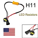 #5: 1 Pair H8 H9 H11 50W 6 Ohm LED Lights Load Resistor Adapter Fix Hyper Flashing Blinking Canbus Error Warning Canceller Decoder