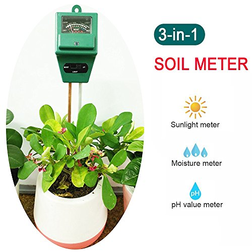 3-in-1 Gardening Soil Measuring Instrument Moisture Meter PH Meter - Green - 4