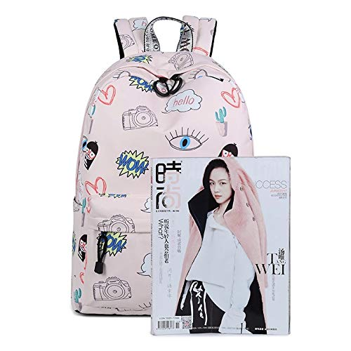 Typify PU Leather Pink Women's Backpack