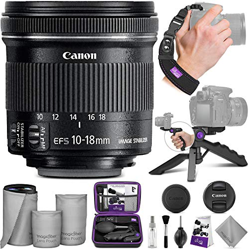 Canon EF-S 10-18mm f/4.5-5.6 IS STM Wide Angle Lens with Altura Photo Essential Accessory Bundle