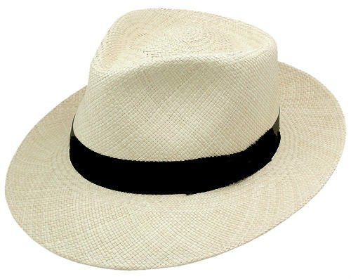 1950s Mens Hats | 50s Vintage Men's Hats Stetson Hats Mens Retro 2 1/2 Brim Panama Fashion Hat $72.98 AT vintagedancer.com