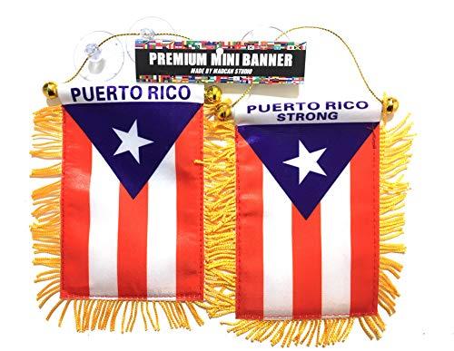 - Puerto Rico Flags for Cars Accessories Puerto Rico Strong 2pc Boricua Edition