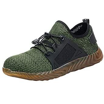WORMENG Chaussure Homme Working - Zapatos de Seguridad para Hombre y Mujer, Unisex, con Punta de Acero, protección Ligera y Segura, para Correr, Aire Verde 40: Amazon.es: Ropa y accesorios