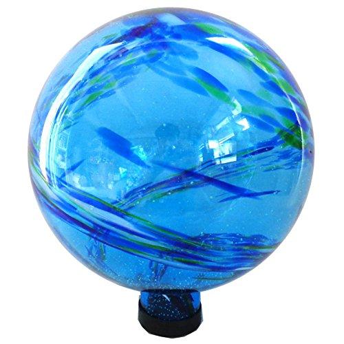 Gardener Select 16BFG04 Blue Glow N Dark Globe, - Dark Balls In Glow The Gazing