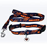 Chicago Bears Pet Set Dog Leash Collar ID Tag LARGE, My Pet Supplies