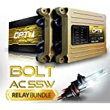 OPT7 Bolt AC 55w Hi-Power HID Kit - All Bulb Sizes and Colors - Relay Capacitor Bundle - 2 Yr Warranty - H11 (H8, H9) (5000K Bright White Xenon Light)
