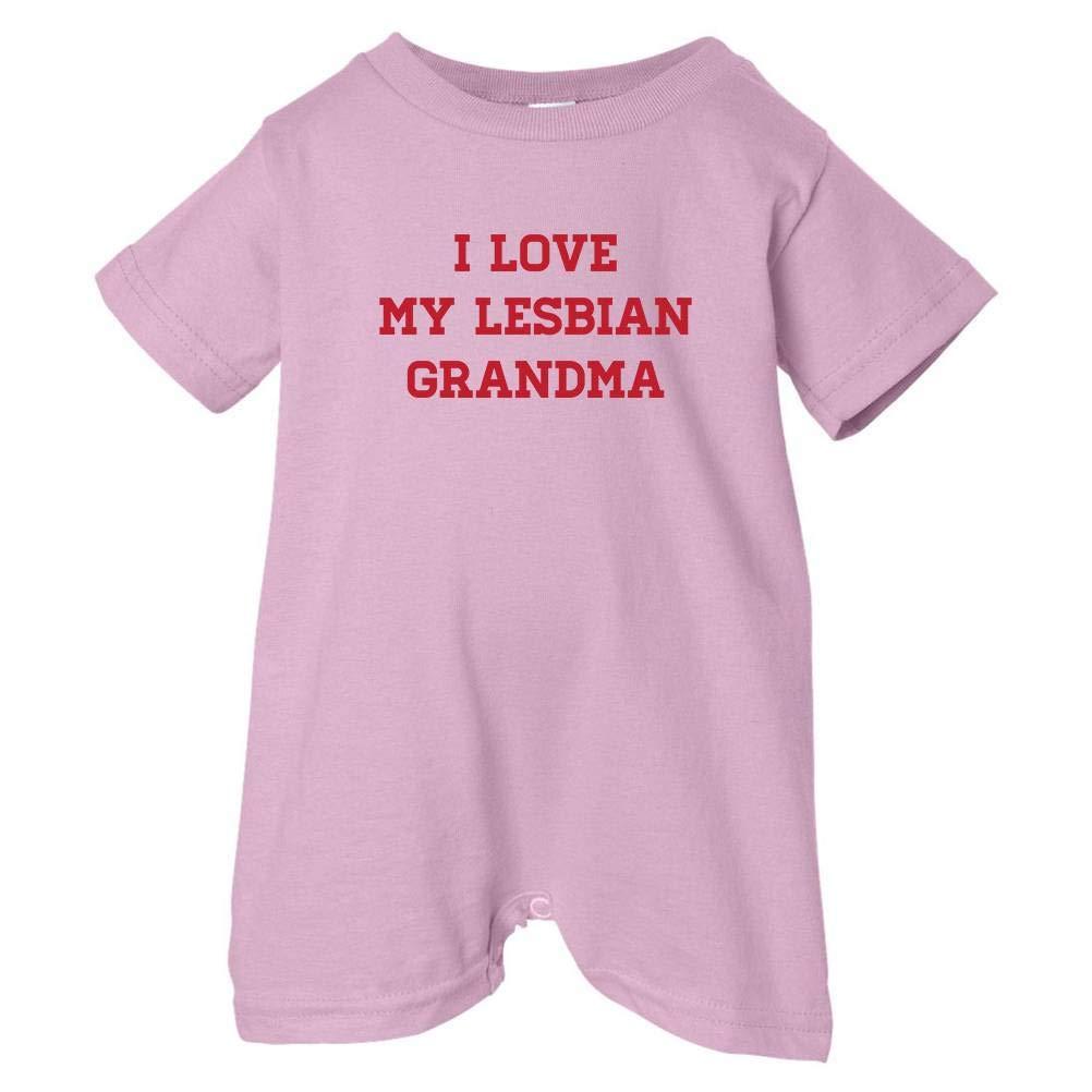 Pride Universe Unisex Baby I Love My Lesbian Grandma T-Shirt Romper