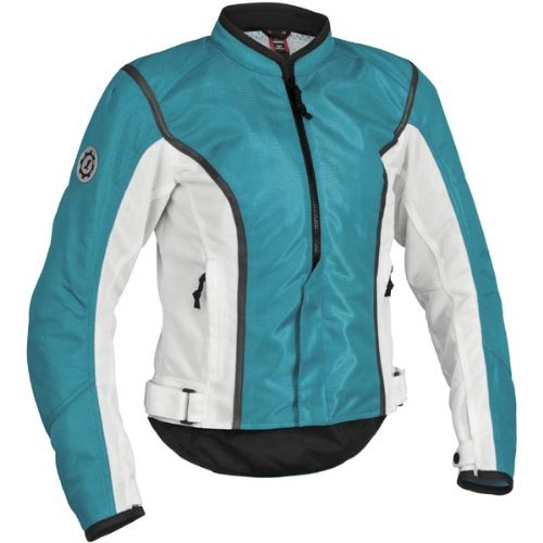 Firstgear Women's Contour Mesh Jacket - Blue/White XL - (Firstgear Womens Contour Mesh Jacket)