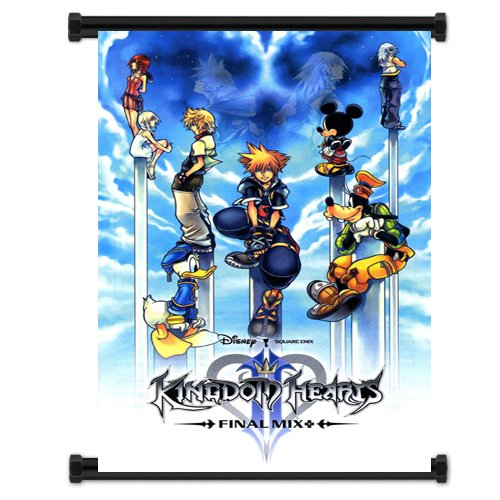 Heart Scroll (Kingdom Hearts Game Fabric Wall Scroll Poster (16