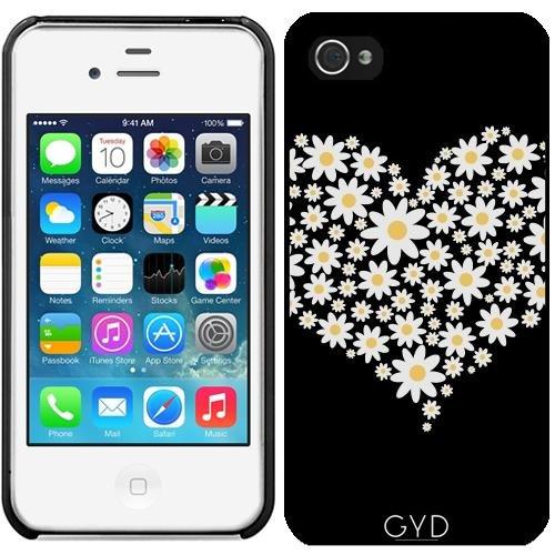 Coque pour Iphone 4/4S - C?ur De Fleurs Blanches by ilovecotton