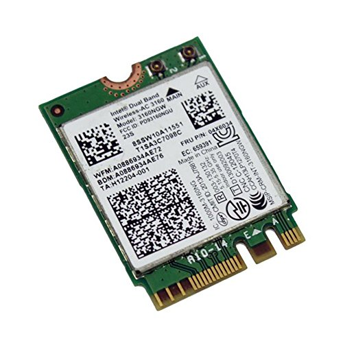 Intel 802.11AC AC3160 3160NGW NGFF M.2 2.4G 5G 433M Hotspot WIFI Wireless & Bluetooth 4.0 Card for (Hot Spot Notebook)