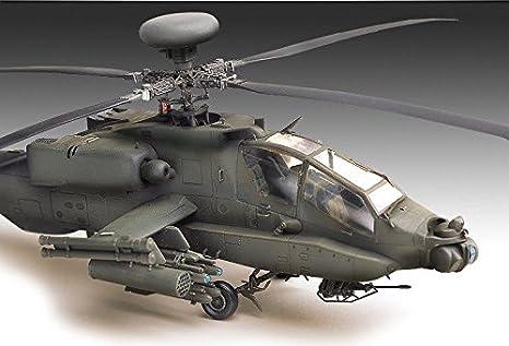 Amazon.com: AH-64 A Apache helicóptero de plástico Modelo ...