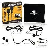 2 Lavalier Lapel Microphones Set for Dual Interview - Dual Lavalier Microphone