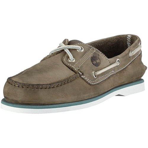Timberland Classic 2 Eye Leather, Men's Boat Shoes Grey