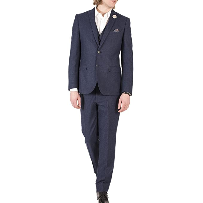 Amazon.com: Harry Brown Lana Donegal Slim Fit – Traje de ...