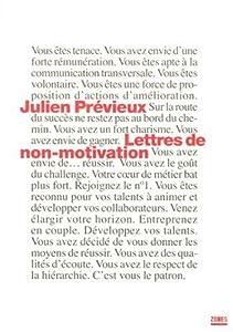 """Afficher """"Lettres de non-motivation"""""""