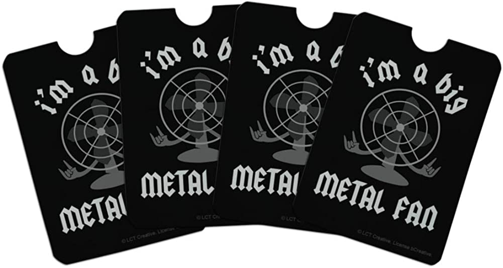 Im a Big Metal Fan Rock Roll Funny Humor Credit Card RFID Blocker Holder Protector Wallet Purse Sleeves Set of 4